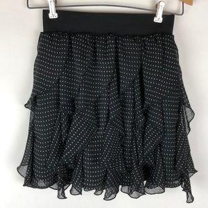 H&M Polka Dot Ruffled Mini Skirt